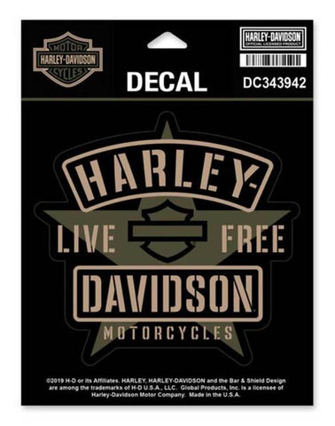 Harley-Davidson® Military Star Matte Decal