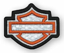 Harley-Davidson® Embroidered Reflective Blank B&S Emblem Patch