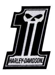 Harley-Davidson® #1 Skull Black & White Small Patch
