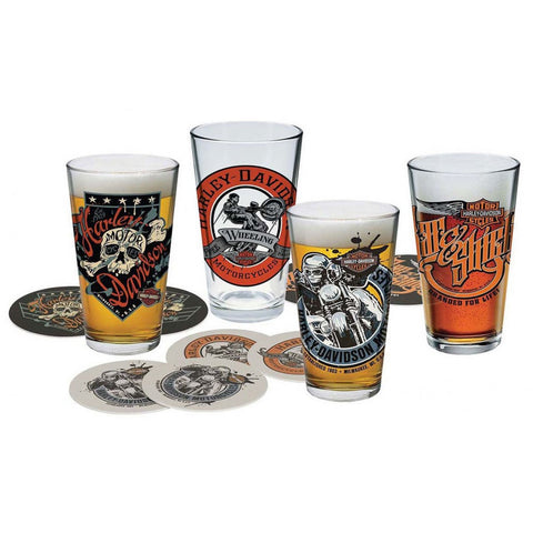 Harley-Davidson® Free Wheeling Pint Glass Set