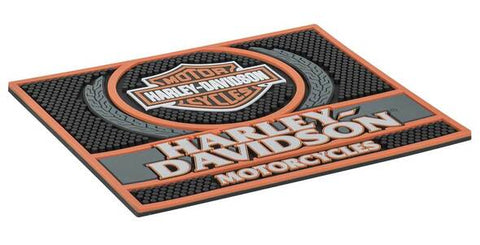 Harley-Davidson® Custom Motorcycles Rubber Bar Mat - 14 x 12 inches