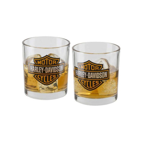 Harley-Davidson® Core Bar & Shield Double Old Fashioned Set