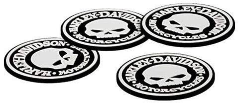 Harley-Davidson® Skull Rubber Coaster Set of 4