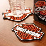 Harley-Davidson® Bar & Shield Rubber Coaster Set of 4