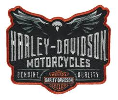 Harley-Davidson® Embroidered Velocity Eagle Emblem Patch