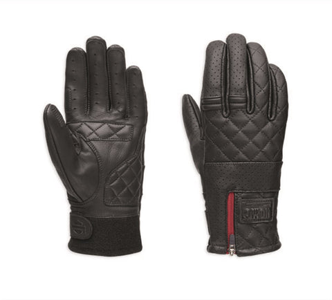 Harley-Davidson® Womens Excursion Quilted Leather Gloves