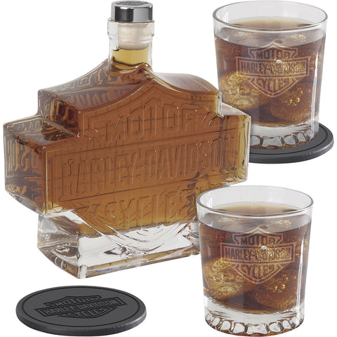 Harley-Davidson® Bar & Shield Logo Decanter Set
