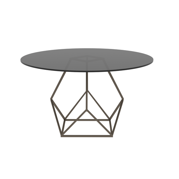 Annette Low Side Table in Black, Grey, and Bronze
