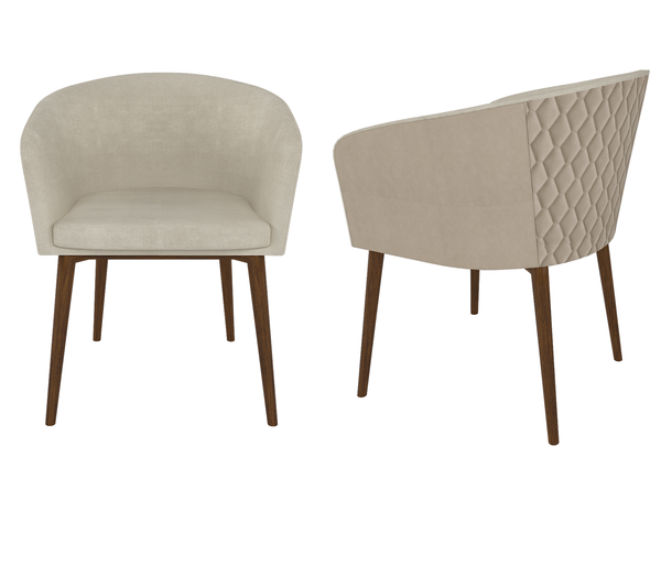 Auriga Dining Arm Chair in Taupe and Cream