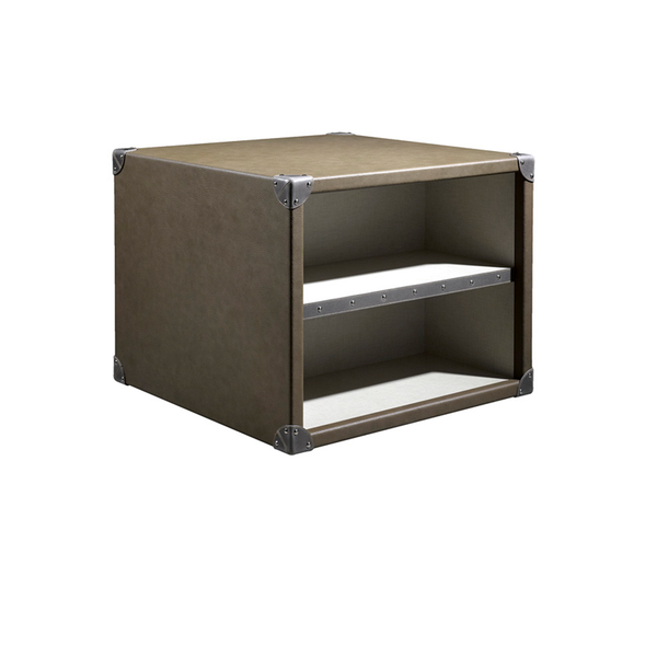 The Compass T1 Side Table in Taupe