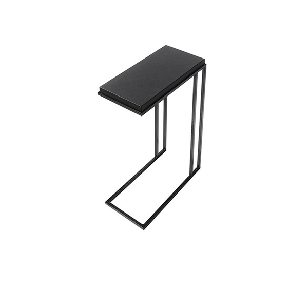 The Denver Rectangular Side Table in Grey and Black