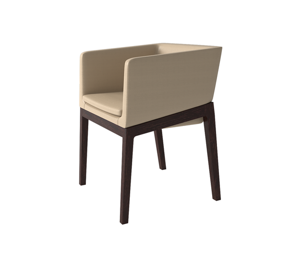 Folsom Armchair with Wood Base