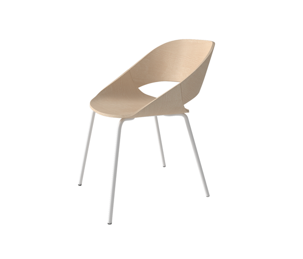Kabira Armchair with steel base