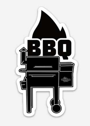BBQ Window Cling