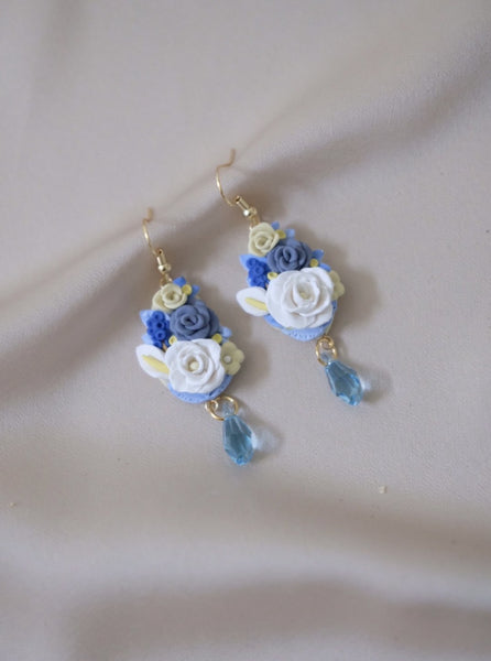 Floral Bouquet - Mini in Blue with Swarovski Crystals
