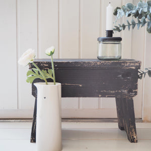 Old French Stool - Antique Black