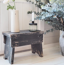 Load image into Gallery viewer, Old French Stool - Antique Black