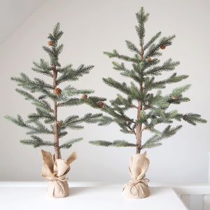 Nordic Christmas Tree in a Hessian Pot - Available In Two Sizes