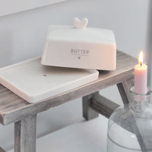 Load image into Gallery viewer, Butter Dish in White & Grey