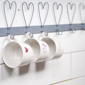 Heart hook rail - large
