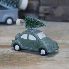 Load image into Gallery viewer, Green Car With Christmas Tree