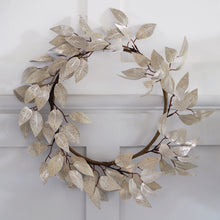Load image into Gallery viewer, Champagne Faux Wreath - Two Options Available