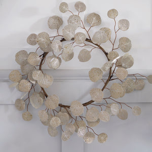 Champagne Faux Wreath - Two Options Available