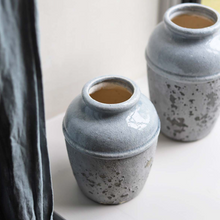 Load image into Gallery viewer, Grey Cement Terrain Vase - Medium