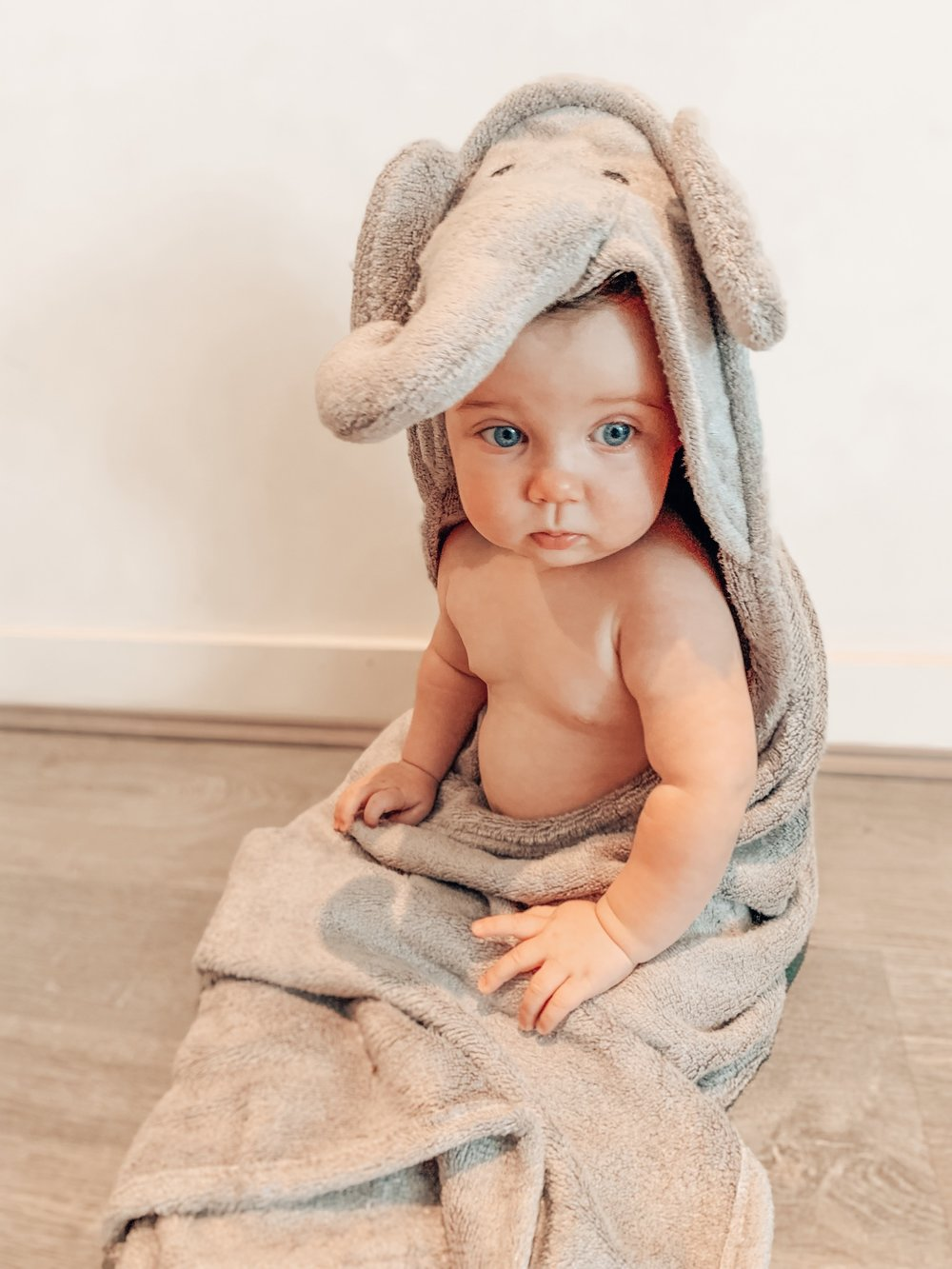 Elephant Hooded Baby Towel & Mitt - MATAYA