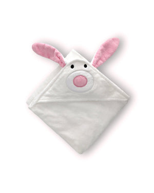 White Bunny Hooded Baby Towel & Mitt - BLANCA