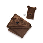 Bear Hooded Baby Towel & Mitt - BALOO