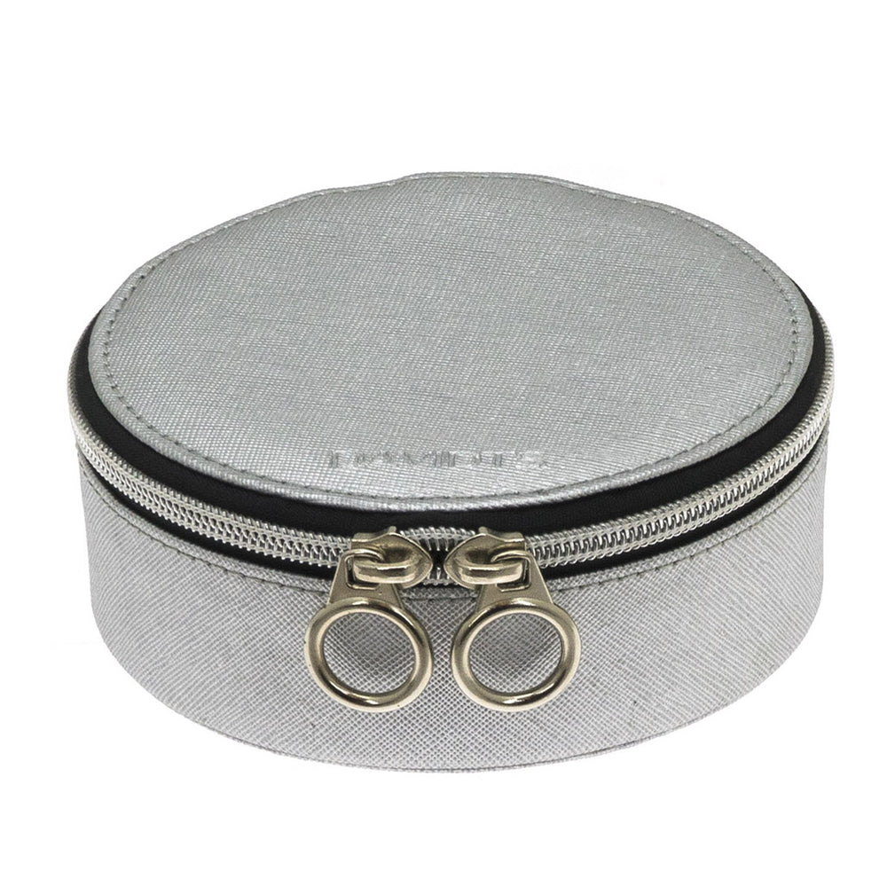 ZIP & GO Round Travel Jewelry Box
