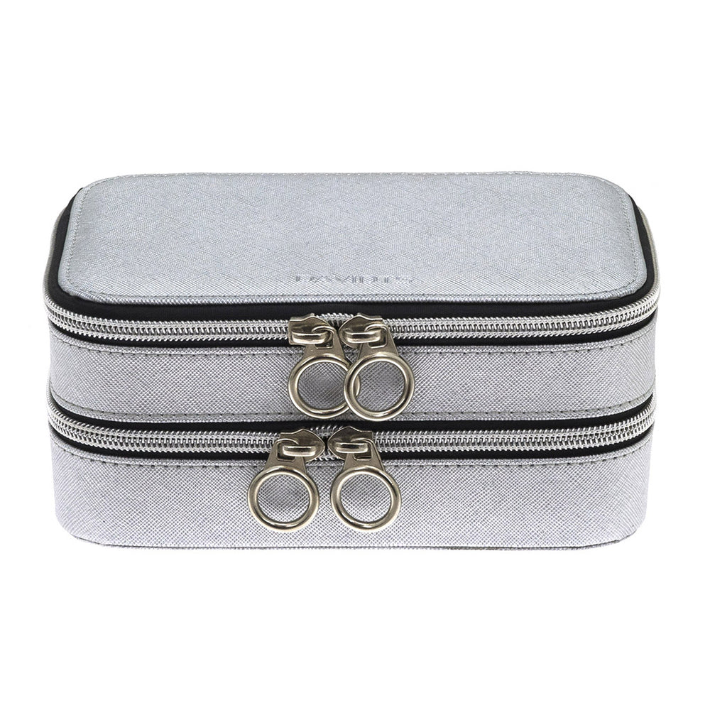 ZIP & GO Travel Double Rectangular Jewelry Box