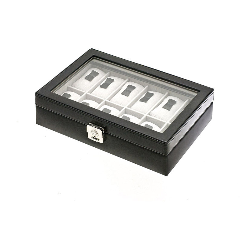CHROME 12 Watches Box with Glass