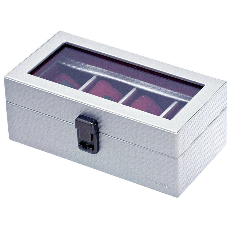 GRAPHITE 4 Watches Box with Glass