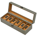 GRAPHITE 6 Watches Box with Glass