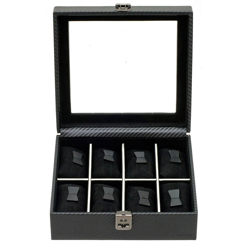 GRAPHITE 8 Watches Box with Glass
