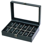 GRAPHITE 12 Watches Box with Glass