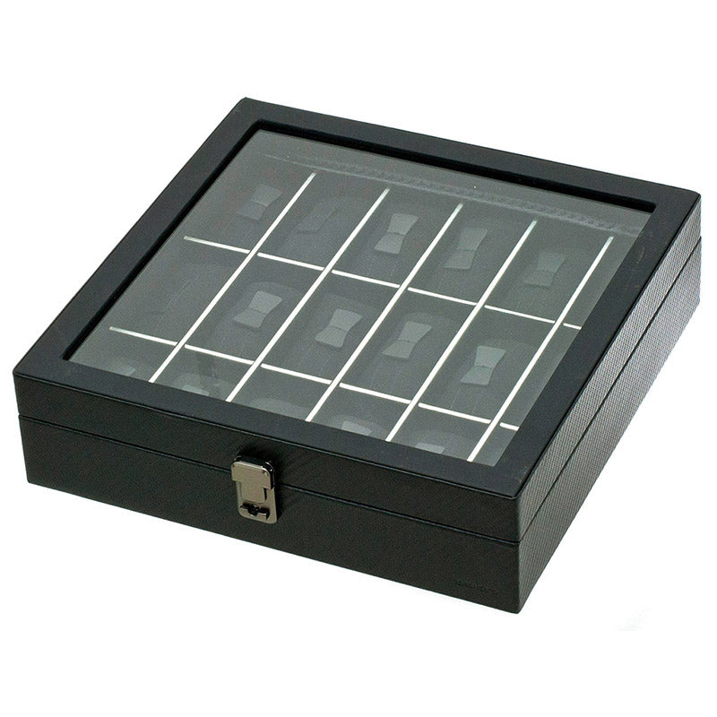 GRAPHITE 18 Watches Box with Glass