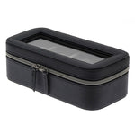 ZIP & CUSHION Travel 4 Watches Box with Glass