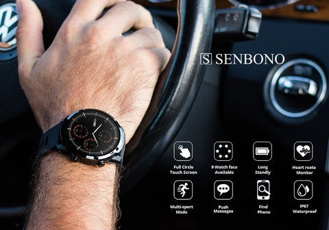Senbono S10+ Smart Watch, Health & Fitness Tracker, Many Features, IOS & Android - SmartTechUnlimited