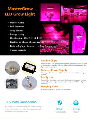 Grow Light For Plants -Full Spectrum in 300W, 600W, 800w, 1000W, 1000W, 1200W, or 2000W LED, Indoor Plants & Flowers, Greenhouse, Early Start - SmartTechUnlimited