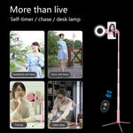 Travor Bluetooth Selfie Stick Tripod With Ring Fill Light, Phone Attachment - SmartTechUnlimited