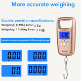 Electronic Portable LCD Luggage Scale, Double Precision, Hanging Hook Style - SmartTechUnlimited