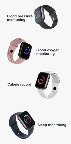 LEMFO Bluetooth Smart Watch 44MM, Heart Rate, Blood Pressure, etc, Removable/Changeable Band - SmartTechUnlimited