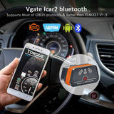 Vgate iCar2 ELM327 OBDII Bluetooth Diagnostics Scanner/Code Reader, Works with IOS, Android & PC - SmartTechUnlimited