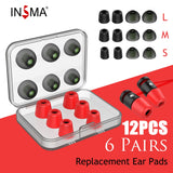INSMA Replacement Earbud Tips, Noise Isolating, 3 pairs of Memory Foam Tips  & 3 pairs Silicone Earbud Tips - SmartTechUnlimited