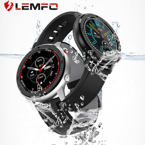 LEMFO DT78 Men's Waterproof IP68 Smart Watch Round Touch Screen, Heart Rate, Blood Pressure, Oxygen, Etc. - SmartTechUnlimited