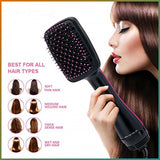 One Step Negative Ion Hair Dryer, Styler, Volumizer, Round or Flat Brush - SmartTechUnlimited