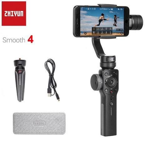 Zhiyun 4 3-Axis Handheld Smartphone Gimbal Stabilizer, IOS,& Android, for Action Camera - SmartTechUnlimited